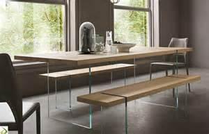 tavolo di vetro per soggiorno tavolo design con gambe in vetro fliam arredo design
