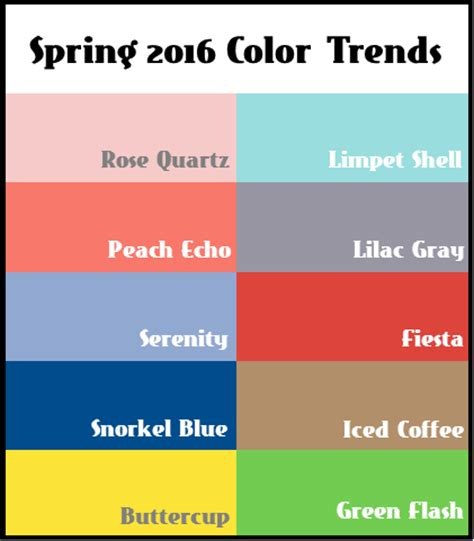 spring 2016 color trends favorite things spring 2016 color trends our favorite combos