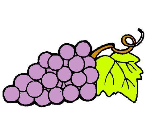 imagenes de uvas en dibujo dibujo de racimo pintado por uva en dibujos net el d 237 a 28