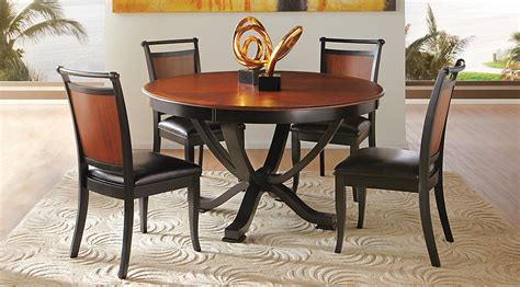 black dining room furniture sets orland park black 5 pc round dining set dining room sets