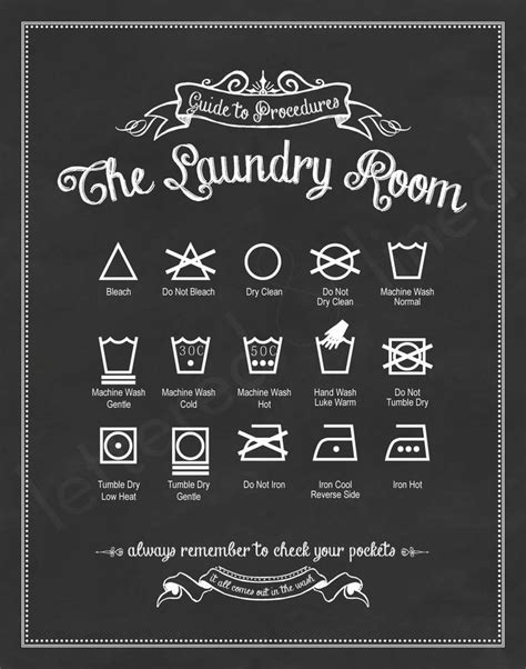 printable laundry directions original guide to procedures the laundry room print 56