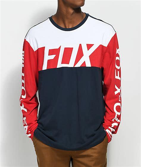 T Shirt Shirt Fox fox scramblur white blue sleeve shirt zumiez