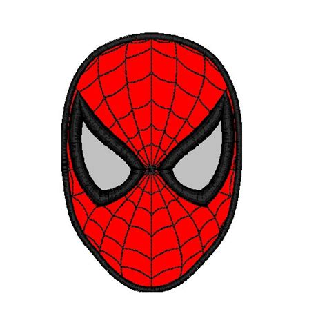 Topi Jaring Logo Deadpool Mask mask applique embroidery design in 3 sizes instant from cloud9embroidery on