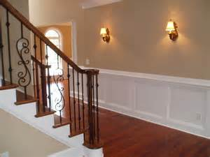 Rod Iron Banister Wrought Iron Balusters Traditional Staircase
