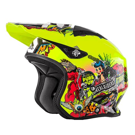 Trial Motorrad 2018 by O Neal Slat Trial Crank Motorrad Helm Gelb Multi 2018