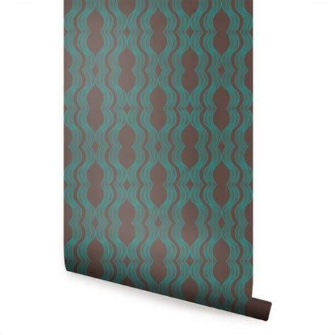 green peel and stick wallpaper wave brown green peel and stick fabric wallpaper