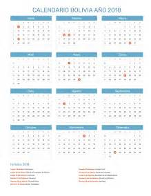 Bolivia Kalender 2018 Calendario Bolivia A 241 O 2018 Feriados