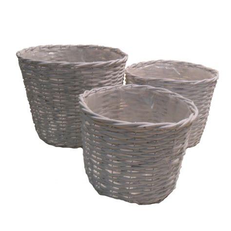 vasi in vimini s 3 vasi rotondi vimini ferro 1518 cestineria