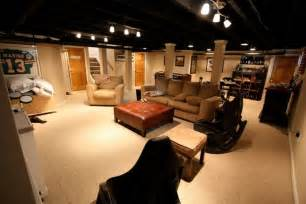 Basement Track Lighting Exposed Ceiling Painted Black With Lights For The