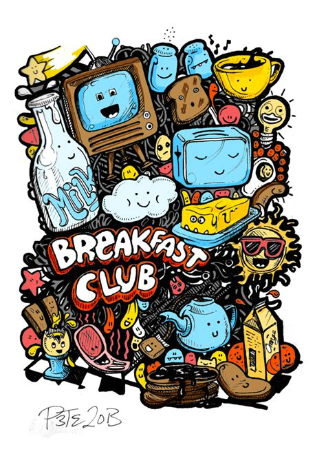 doodle club breakfast club colour doodle by monkeys in my on