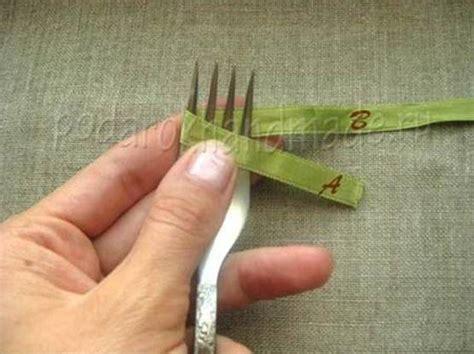 creative ideas diy and ribbon diy satin ribbon bow with a fork icreativeideas
