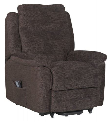 electric armchairs evesham fabric electric dual motor riser recliner chair