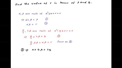 Finding The In Find The Value Of R In Terms Of P And Q Given The