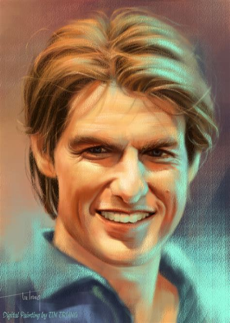 drawing and painting tom cruise my digital painting by tintrung on deviantart