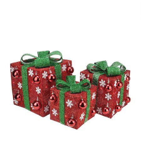 northlight 3 box outdoor set y76231 northlight seasonal 3 bows lighted yard decorations set walmart