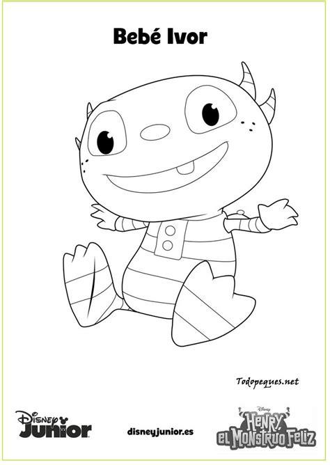 imagenes para colorear henry monstruito dibujos para colorear de henry el monstruito feliz