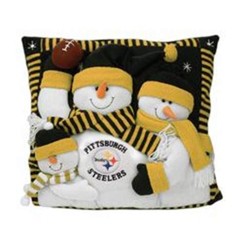 pittsburgh steelers nfl 18 quot snowman family pillow