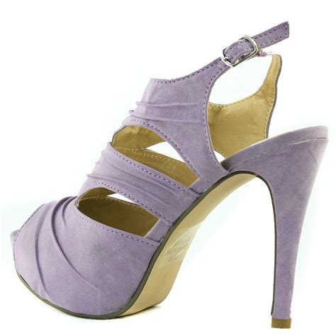 casual peep toe cut out adjustable sling back high heel