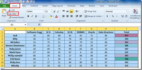 How To Use Excel 2010 Spreadsheets by Copy Excel 2010 Spreadsheet Data As Linked Picture Paste