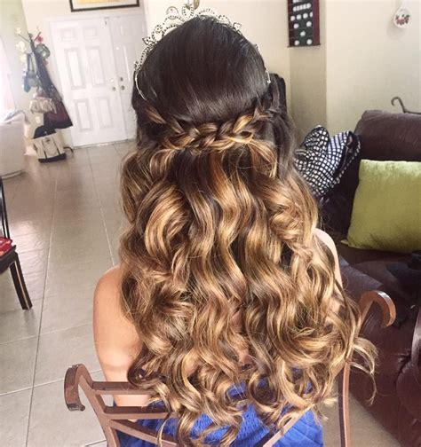 15 Anos Hairstyles by 20 Absolutely Stunning Quinceanera Hairstyles With Crown