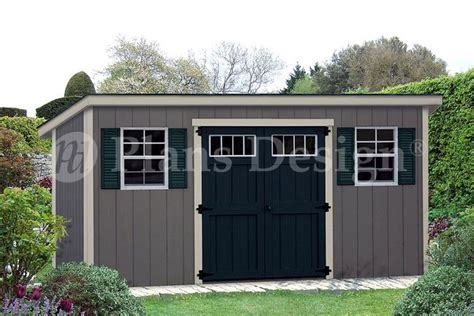 storage shed plans    deluxe building modern style