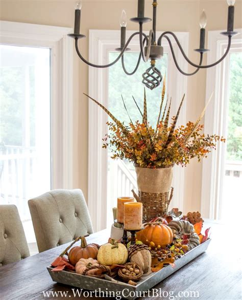 Home Decor Table Centerpiece Farmhouse Fall Table Centerpiece The Creative Corner 68 Diy Craft Home Decor Link