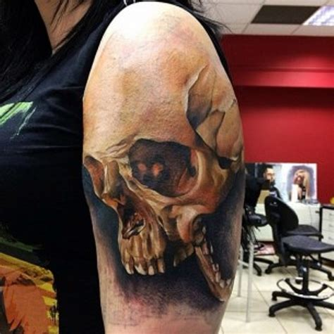 shoulder skull tattoo designs 69 impressive skull shoulder tattoos