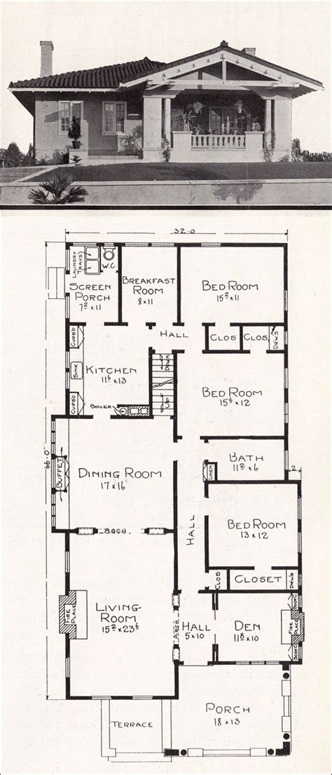 bungalow small house plan striking craftsman style plans