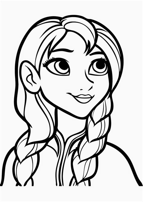 Galerry frozen anna coloring pages to print