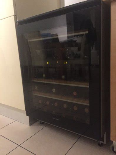 24 wine fridge wine fridge miele 24 counter wine cooler kwt4154ug 1