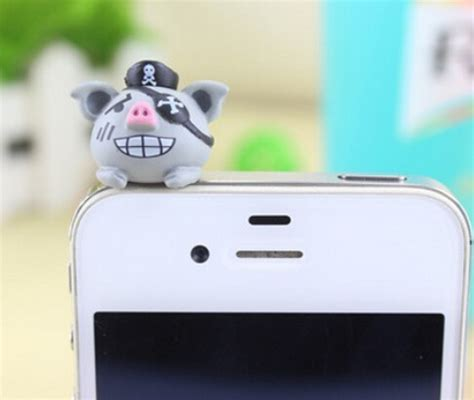 Dust Pluggy Piggy Pig 10 free shipping pirate pig anti dust for cell phone iphone xiaomi samsung kpop