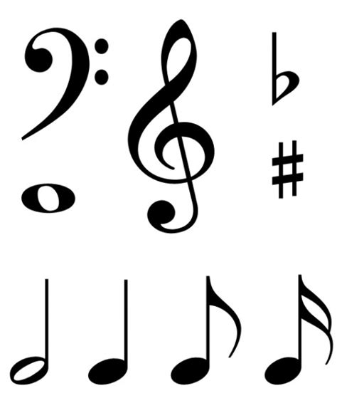printable art music free clip art music notes symbols