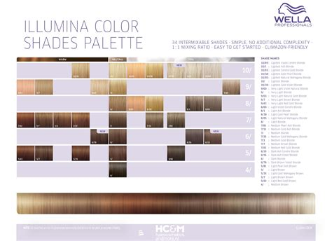wella illumina color chart wella professionals illumina color shades palette 34