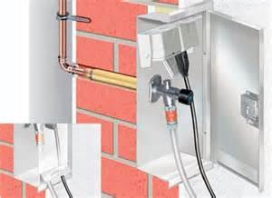 selbstentleerender wasserhahn zentrale versorgungsstation f 252 r den au 223 enbereich aus edelstahl