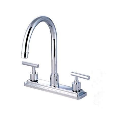kingston brass kitchen faucet reviews reviews kingston brass ks8791cmlls manhattan 8 inch kitchen faucet without sprayer fuelaffiliate