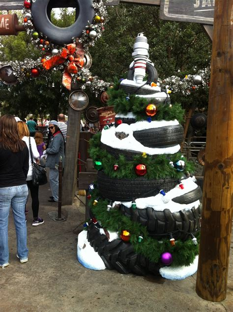 tire xmas tree christmas holiday glow pinterest