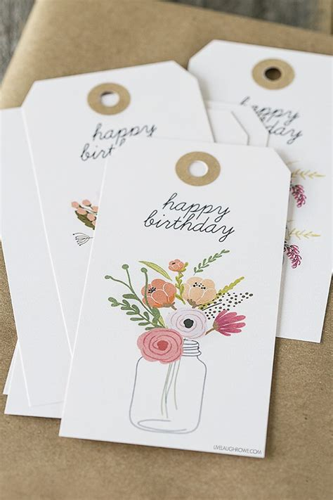 printable birthday gift tags templates floral printable birthday gift tags live laugh rowe