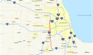 Illinois Toll Road Map by File Interstate 355 Il Map Png Wikimedia Commons