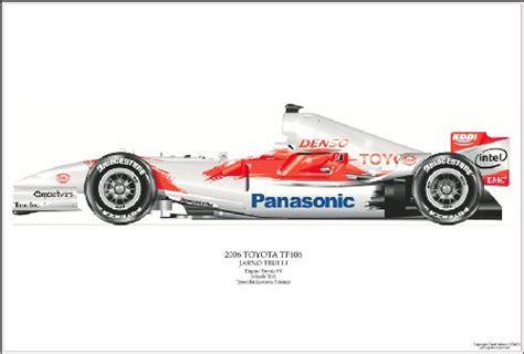 Dave Wilson Toyota David Wilson Toyota F1 Tf106 Formula 1 Print