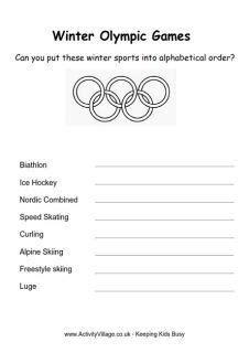 winter olympics  kids