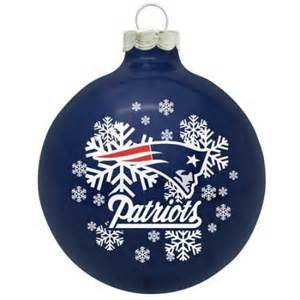 new england patriots small painted round christmas tree