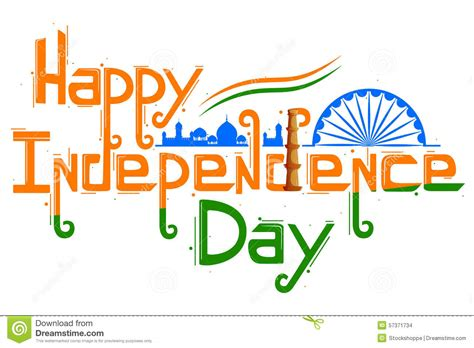 day for indian tricolor flag for happy independence day stock