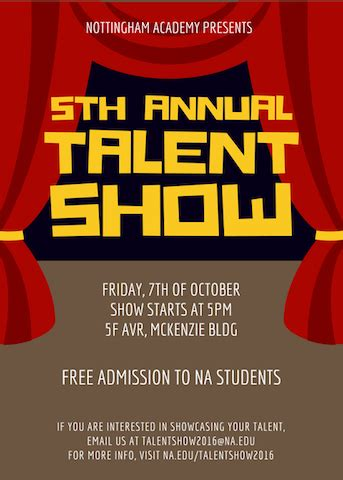 40 Talent Show Ideas Canva Free Printable Talent Show Flyer Template