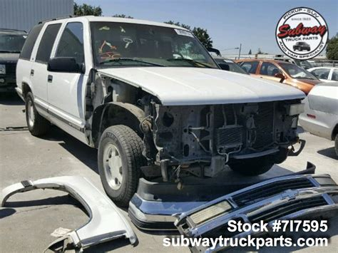 1999 chevrolet tahoe parts used parts 1999 chevrolet tahoe ls 5 7l 4x2 subway truck