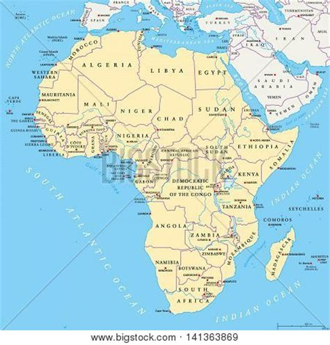 africa map sea mediterranean vectors stock photos illustrations bigstock
