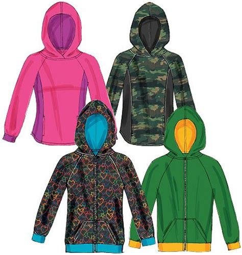 pattern zip up hoodie mccall s patterns m6614 nice zip up hoodie pattern
