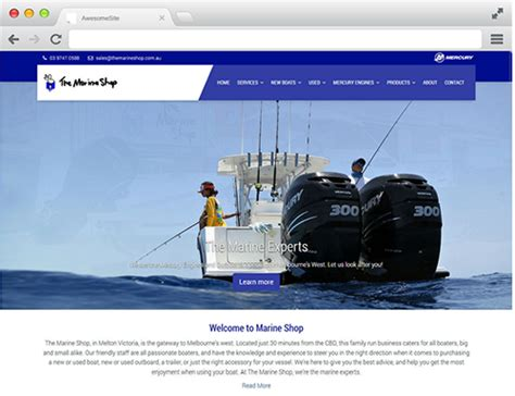 boat marine shop boat deck launches latest responsive website for the