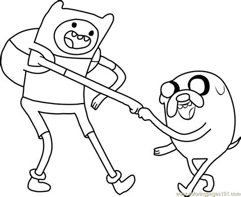 finn and jake coloring page free adventure time coloring