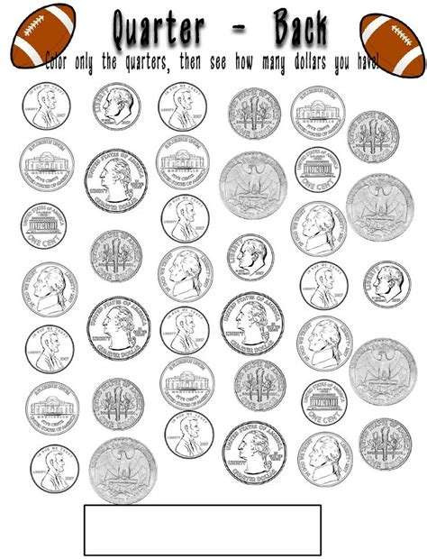 printable quarter coin counting coins coloring pages coloring pages