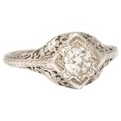 1920s platinum engagement ring for sale at 1stdibs